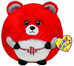 Ty Beanie Ballz Houston Rockets - NBA Ballz - http://bignbastore.com/nba-accessories/nba-toys/ty-beanie-ballz-houston-rockets-nba-ballz