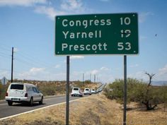 Prescott fallen firefighters return home. I've passed that sign a few times. The Yarnell 19 will never mean miles again.