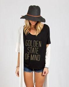 The softest tshirt!   Salt & Pepper Tees Black Graphic Tee // Gold California / Fashion tshirts