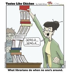 Tastes Like Chicken :: Comics - Getting Booked Library Memes, Library Quotes, Got Books, I Love Books, Read Books, Librarian Humor, Library Boards, Little Library, Pop Culture References