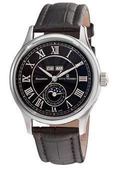 Revue Thommen 16066-2537 Watches,Men's Moonphase Black Full Calendar Dial, Men's Revue Thommen Automatic Watches