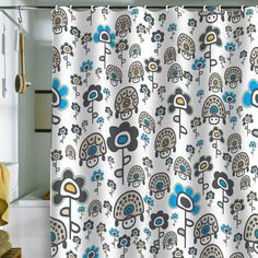 Gabriela Larios Turtles And Flowers Shower Curtain