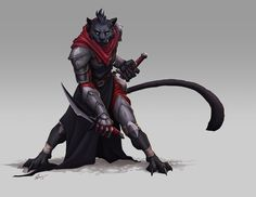 Tabaxi assassin - Warriors, Mages & co - Fantastical Creatures High Fantasy, Fantasy Races, Fantasy Rpg, Fantasy Artwork, Dungeons And Dragons Characters, Dnd Characters, Fantasy Characters, Fantasy Character Design, Character Design Inspiration