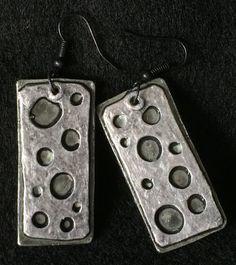 Earrings Metallic Distressed Boho Polymer by ArtQwerksArtCirque