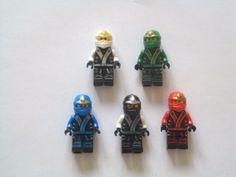 Ninjago-Minifigures-Set-of-5-Lloyd-Kai-Cole-Jay-Zane-Mini-Figures-Fits-Lego-NEW