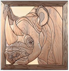 "Intarsia woodworking pattern of a Black Rhinoceros ""Endangered Species Series"" Intarsia Woodworking, Woodworking Patterns, Woodworking Plans, Intarsia Wood Patterns, Wood Dog, Scroll Saw Patterns, Pallet Art, Wood Wall Art, Wood Crafts"