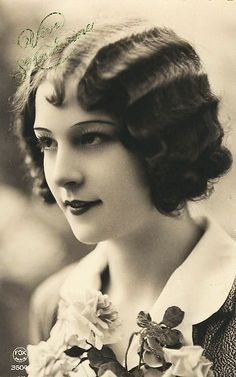 Curls, #marcelled,  #1920's # called skip waves when I became a hair dresser, hated doing them !!