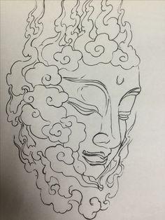 Tattoo Sketches, Tattoo Drawings, Art Sketches, Tattoo Linework, Japanese Tattoo Art, Japanese Art, Dibujos Tattoo, Thailand Art, Buddha Tattoos