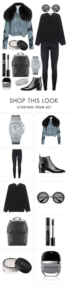 """""""Communication is important"""" by theodor44444 ❤ liked on Polyvore featuring Audemars Piguet, Jonathan Simkhai, 7 For All Mankind, Acne Studios, Miu Miu, Louis Vuitton, Christian Dior, NARS Cosmetics, Marc Jacobs and Blue Nile"""
