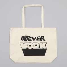 Goods By Goodhood Never Work Tote Bag (L) - Natural (Image 1)