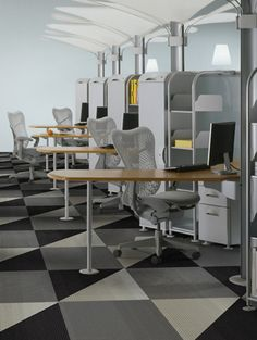 Liking this #carpet tile pattern for an open office space we're designing. #Interface flooring.