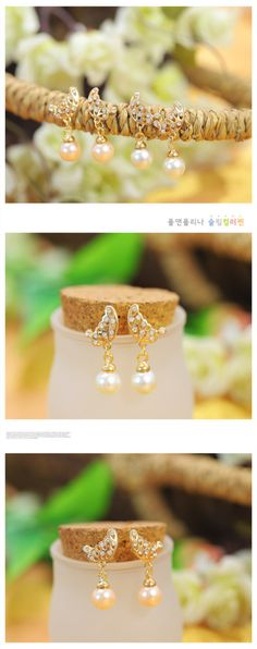 Aliexpress.com : Buy Wholesale 15 pairs/lot New Arrivals Peal Butterfly Bow Crystal Diamond Fashion Women Earrings,Kukuwe Brand E075,Free Shipping from Reliable Earrings suppliers on Kukuwe World $29.86
