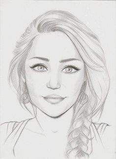 Reminded me of you cool drawings, drawing faces, girl face drawing, drawing girls Portrait Sketches, Pencil Portrait, Art Drawings Sketches, Cool Drawings, Pencil Drawings, Pencil Sketches Of Faces, Horse Drawings, Dress Sketches, Pencil Art