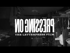 Pressing On: The Letterpress Film Trailer Killer Croc, See Movie, Typography, Lettering, Letterpress Printing, Bookbinding, Hobbies, Design Inspiration, Printing Press