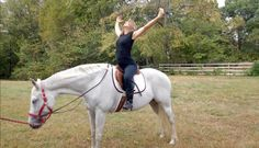 Yoga on horseback sessions and training clinics from omhorse.