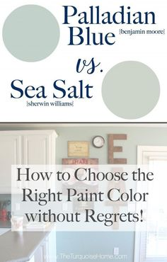 Benjamin Moore Palladian Blue Bathroom Luxury Sea Salt Vs Palladian Blue Choose Paint Colors without Bedroom Paint Colors, Interior Paint Colors, Paint Colors For Home, Wall Colors, Paint Colours, Foyer Paint, Fixer Upper Paint Colors, Best Bathroom Paint Colors, Coastal Paint Colors