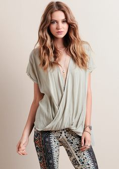 This relaxed-fitting top is flattering no matter what it's paired with!