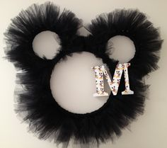 Mickey Mouse Tulle Wreath. $35.00, via Etsy.