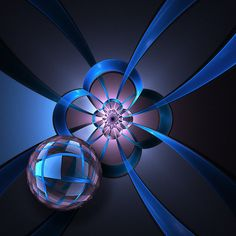 Portal with Blue Glass Ball, by Pam Blackstone. Another one of my fractals. Available at RedBubble as a framed print or greeting card.