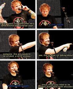 Ed sheeran concerts....hes having fun with all the power hes obtained