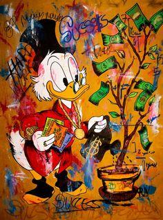 Mc Duck Money Seeds - Acylics - Signed by Carlos pun Painting Graffiti Art, Graffiti Wallpaper, Cartoon Wallpaper, Arte Do Hip Hop, Hip Hop Art, Cartoon Painting, Cartoon Art, Arte Disney, Disney Art