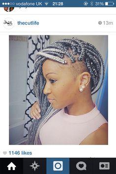 White braids with undercut braided