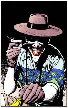 "comicbookvault: ""Joker by Brian Bolland THE KILLING JOKE (Mach 1988) """