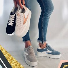 #Deportivas Mustang con plataforma. ¿Qué color te gusta? Mens Fashion Shoes, Sport Fashion, Trendy Shoes, Casual Shoes, Running Sneakers, Shoes Sneakers, Aesthetic Shoes, Winter Shirts, Nike Shoes Outfits