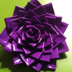 Duct tape flower, for our first valentine's day together Rob made me a big one of these because i don't like bouquets because they die too fast =) yay they are cute too!