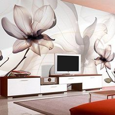 Create a relaxing refuge in your home with lotus flower wall art. You can use lotus flower wall decor in any room of your home but especially bedrooms, living rooms and bathrooms.  Although I love it in my office.  You can find cute lotus flower clocks, lotus flower wall tapestries, lotus flower wall decals, lotus flower wall murals that loook cute. Sproud Custom 3D Wallpaper Modern Art Transparent Lotus Flowers Smoke Photo Wall Mural Living Room Dining Room Simple Home Decor Fresco…