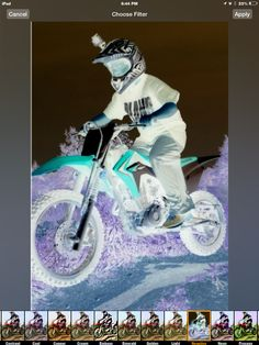 My brother on his bike and wanted me to edit it I tried a few ways but I like this one