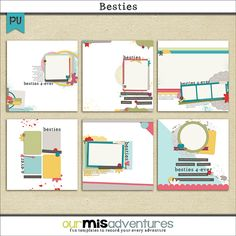 Besties Templates by Our Misadventures