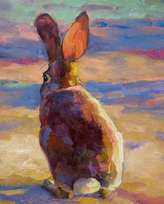 Sarah J. Webber Fine Art - Portfolio of Works: Archived Paintings Modern Art Paintings, Animal Paintings, Oil Paintings, Art Pictures, Art Images, Rabbit Art, Bunny Art, Oil Painting Abstract, Abstract Art