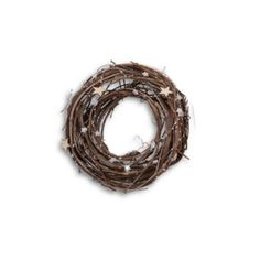 Small Natural Twig Handmade Christmas Wreath with Star Detail