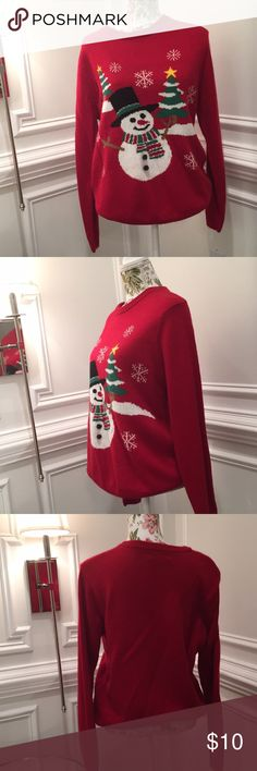 Ugly Christmas sweater (Cute) Ugly snowman sweater. Worn once💎 Forever 21 Sweaters
