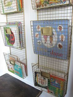 love these baskets for books!