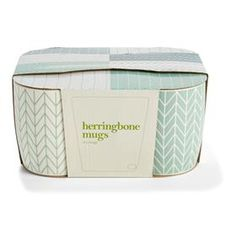 Mugs - Herringbone, 4 Pack $7.00