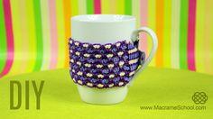 Cozy Cup Warmer Tutorial  #DIY #Cozy #Cup #Warmer #Tutorial #Macrame #CozyMug