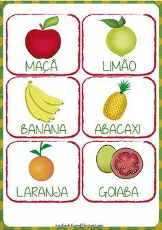 Notebook da Profª: Projeto As Frutas - Flash cards