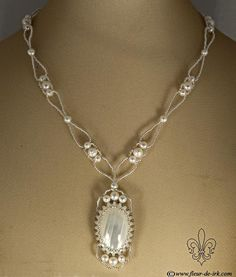 Sweet moments necklace, white N1272 by ~Fleur-de-Irk on deviantART