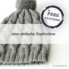 einfache Zopfmütze – Anleitung – | me and sophie