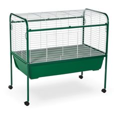Prevue Pet Jumbo Small Pet Cage on Stand - White/Green - $149.97 @hayneedle