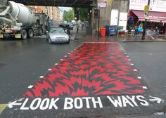 Eley Kishimoto covers London street crossing in graphic patterns