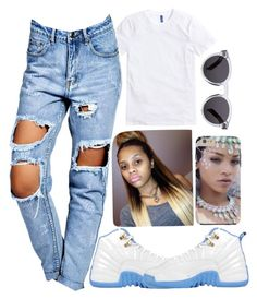 """""""Playing with your emotions like I'm Chris tucker on Friday,do it my way"""" by sophalopha13 ❤ liked on Polyvore featuring Boohoo and Illesteva"""