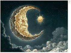 Moon and Sun by Papierpilot