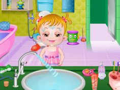 Baby Hazel Bathroom Hygiene educational game for children. Enjoy while playing and help Baby Hazel learn more about Bathroom Hygiene!