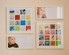 take pictures of kids art and frame it