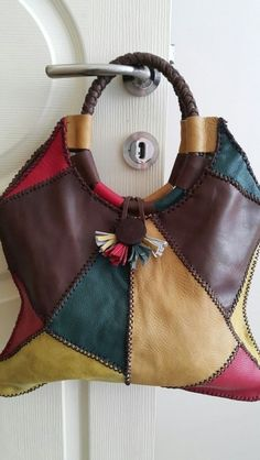 Leather Bags Handmade, Handmade Bags, Leather Purses, Leather Handbags, Leather Bag Pattern, Denim Bag, Quilted Bag, Cloth Bags, Fashion Bags