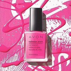 We  a great pink mani! Get the look with our Nailwear Pro+ Nail Enamel in Viva Pink!