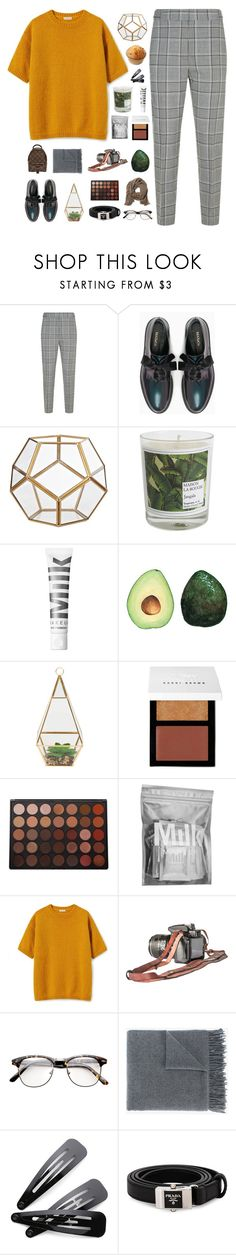 """one glance."" by distant-dreams ❤ liked on Polyvore featuring Alexander Wang, Max&Co., Maison La Bougie, Bobbi Brown Cosmetics, Morphe, MILK MAKEUP, Acne Studios, Prada and Louis Vuitton"